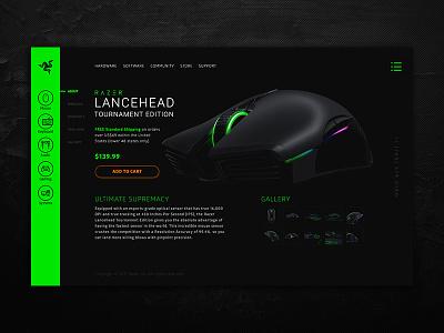 Razer Redesign Concept mouse game ecommerce ux ui razer redesign
