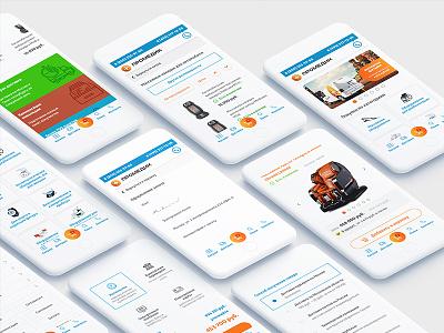 Mobile Medical Store App Design app clean mobile store shop interface ux ui ecommerce