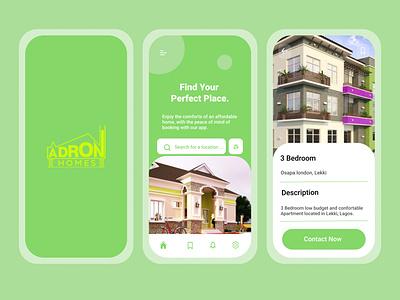 Adron Real Estate App minimal illustration design ui app