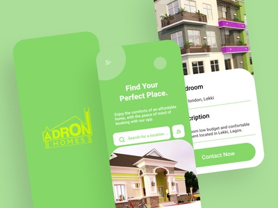 Adron homes ux branding ui illustration app