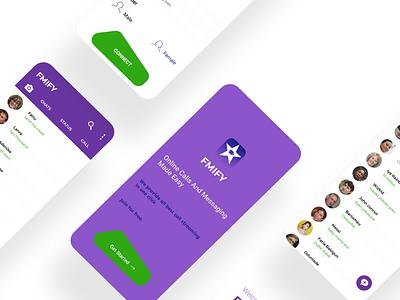 FMIFY chat app ux ui app design
