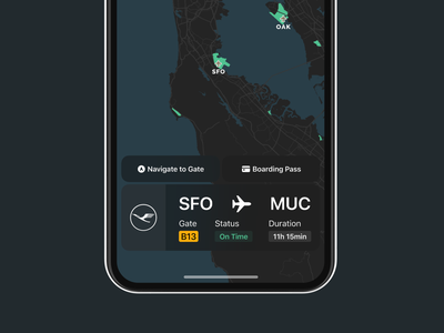 Flight App münchen uiux ux ui boardingpass flight app dark mode