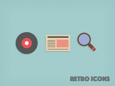 Retro Icons retro icons search vinyl music news paper glass article