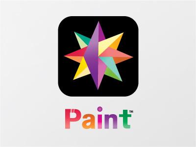 Paint Mobile App design app logo star paint logo thirtylogos