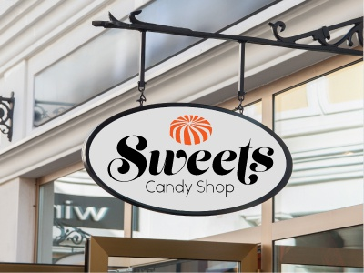 Sweets signage candy shop challenge candy logo thirtylogos