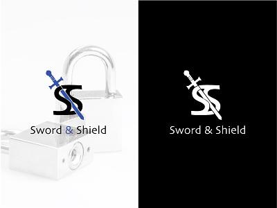 Sword & Shield design branding logo sword  shield thirtylogos