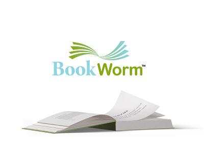 BookWorm challenge design branding logo bookworm thirtylogos
