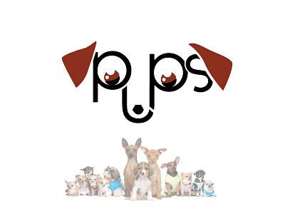 Pups challenge dog pups design logo thirtylogos