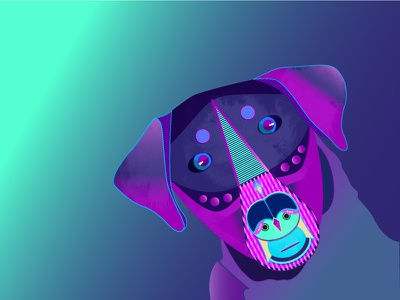 Baxter - The Robo Dog robot future dog ai illustration