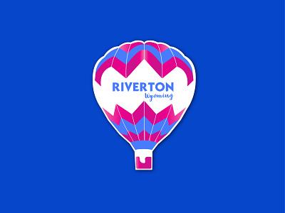 Dribbble Weekly Warm-Up - Hometown Sticker hot air balloon dribbbleweeklywarmup sticker branding vector illustrator hometown