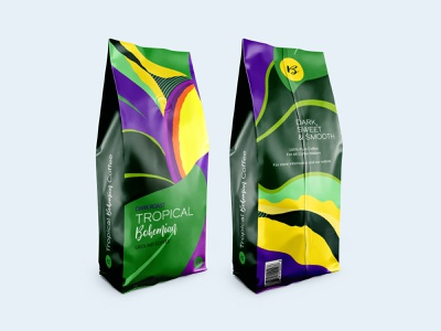 Coffee Packaging Design - Prompt #8 packaging design packaging abstract art coffee brand coffee adobe photoshop art branding design challenge warmup dribbbleweeklywarmup