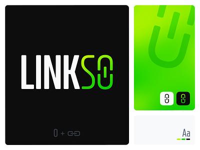 Linkso link android ios logo design application app app design typogaphy branding logo ui procreate vector illustration flat design design colourful
