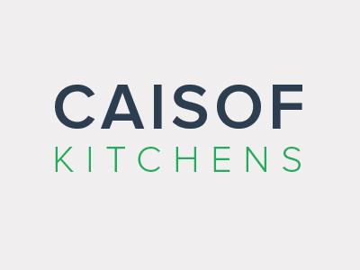 Caisof Kitchens kitchens branding design blue green designer nova trend flat identity proxima logo