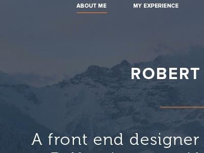 Robert McKee Portfolio portfolio website typography flat design clean ux ui css3 html5 proxima