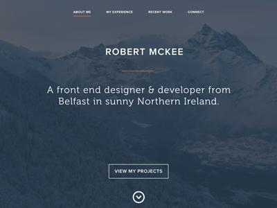 Robert McKee Portfolio redesign proxima html5 css3 ui ux clean design flat typography website portfolio