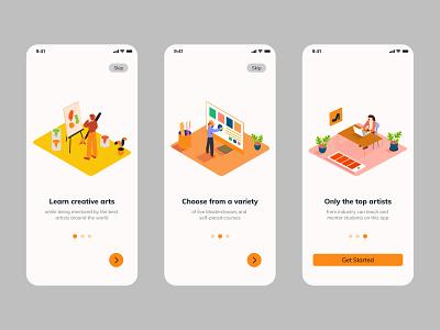 Onboarding Screens figma strategy growth product user journey ux design ui design onboarding app design arts