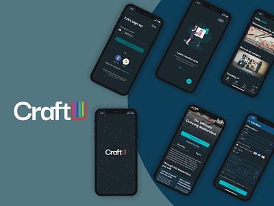 CraftU: A Masterclass for Creative Arts masterclass craft growth ui design product design ux design creative arts