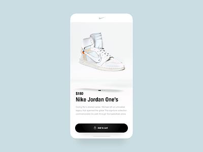Nike App - 3D Checkout shopping shop ecommerce nike shoe aftereffects c4d 3d app transition ux ui animation design concept