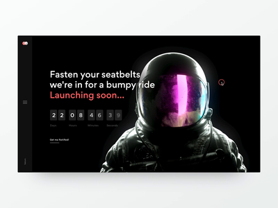 Coming Soon - Website webdesign teaser coming soon timer astronaut aftereffects c4d 3d transition web ui website ux animation design concept