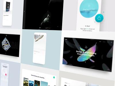 2020 Recap - UI/UX Showcase web 2020 trend c4d app transition website ux ui design showcase animation recap 2020