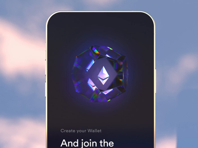 Crypto Wallet - Onboarding concept c4d banking app finance onboarding trading stock dark crypto banking animals 3d ux ui app walletapp ethereum wallet bicoin