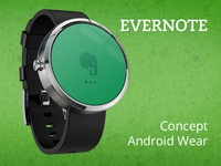 Evernote - Android Wear Concept