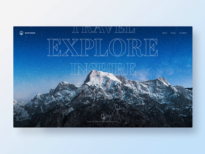 Emporers Mountain Website - Parallax Interaction web explore nature motion interface scroll mountain graphic design concept branding interaction parallax ux ui animation website