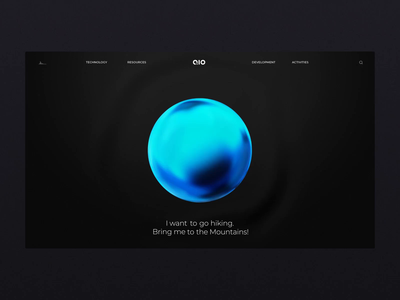 Aio Artificial Intelligence - AI transition cinema 4d blue sphere intelligence artificial ai web ux ui after affects photoshop branding 3d concept website animation design ui  ux
