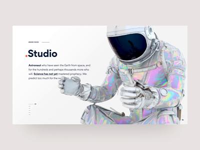 Astronaut - Landingpage octane c4d concept landingpage astronaut space clean transition web ux ui design animation website