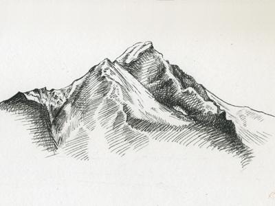 Alaskan Ridge Sketch