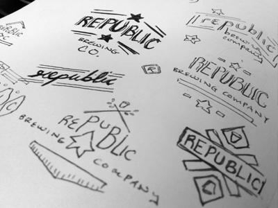 Republic Identity Sketches