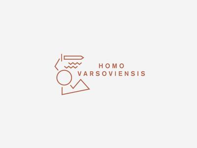 Homo Varsoviensis logo brass gold warsaw minimal vintage siren vector logo