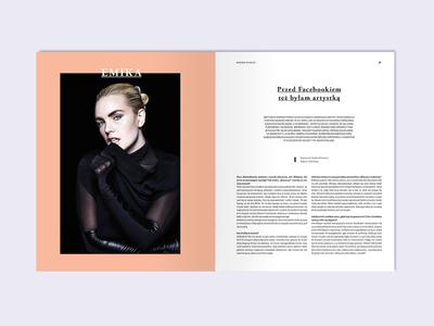magazine layout magazine type spread photo minimal layout