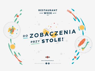 Warsaw Restaurant Week festival type vector minimal warsaw restaurant food