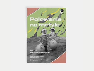 Theatre Poster typography theatre retro paper poster