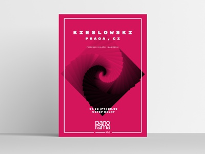 Panorama Club / Kieslowski event poster branding illustrator logo vector typography poster minimal illustration graphic design