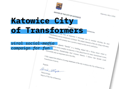 Katowice City of Transformers / viral SM campaign viral joke humor social media creative copywriting