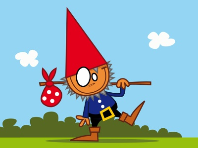gnome little wonderland book story children cute smile dots fairy tale kids illustration eyes blue cloud hat beard fairytale elf pieloot gnome