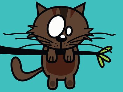 Kitten sketch cartoon eyes design kids cat kitten cute pieloot illustration