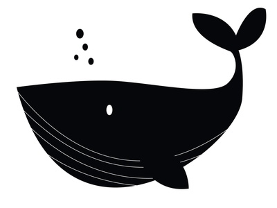 Whale kids art water animal clipart drawing black white illustration pieloot whale