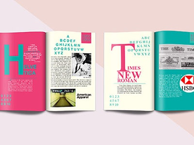 Chronology Magazine timesnewroman helvetica magazine