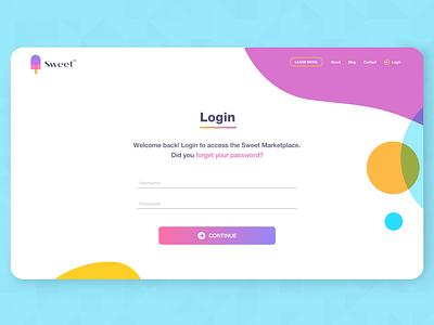 Sweet! adobeillustator uiux design landingpage adobexd webdesign uidesign persian ui uiuxdesign