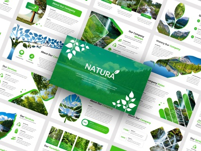 Natura - Nature Presentation Template powerpoint google slides powerpoint template modern minimalist infographics entrepreneur elegant creative corporate agency company clean business nature environment forest leaf green keynote