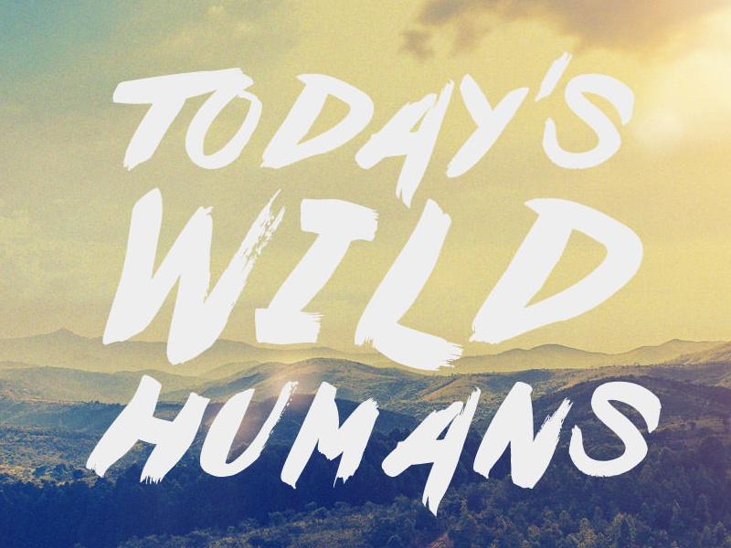 Today's Wild Humans website web off-grid header image logo