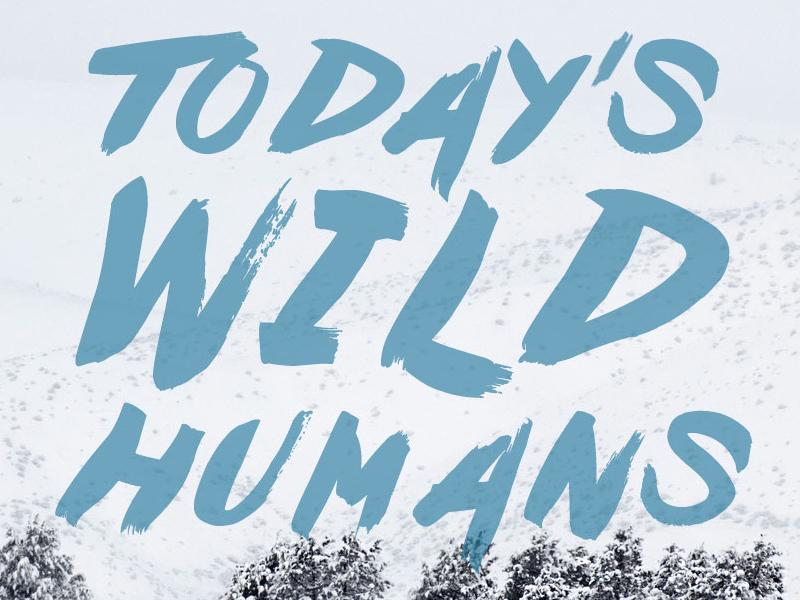 Today's Wild Humans Winter winter off-grid website web logo