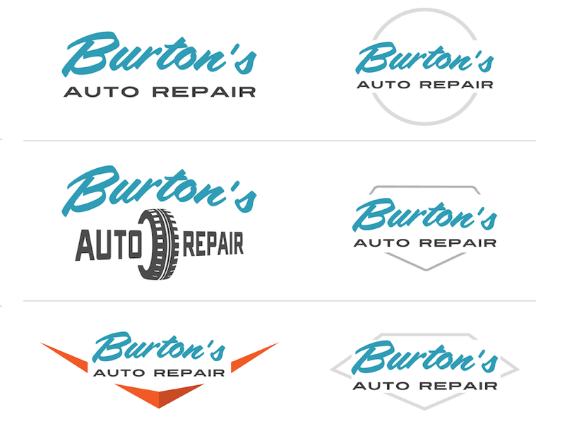 Burtons Auto Repair Logo Ideas automotive auto auto repair logo logotype