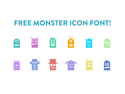 Freebie: Monster Icon Font monster vector graphicriver vector pack icon free font freebie icon font