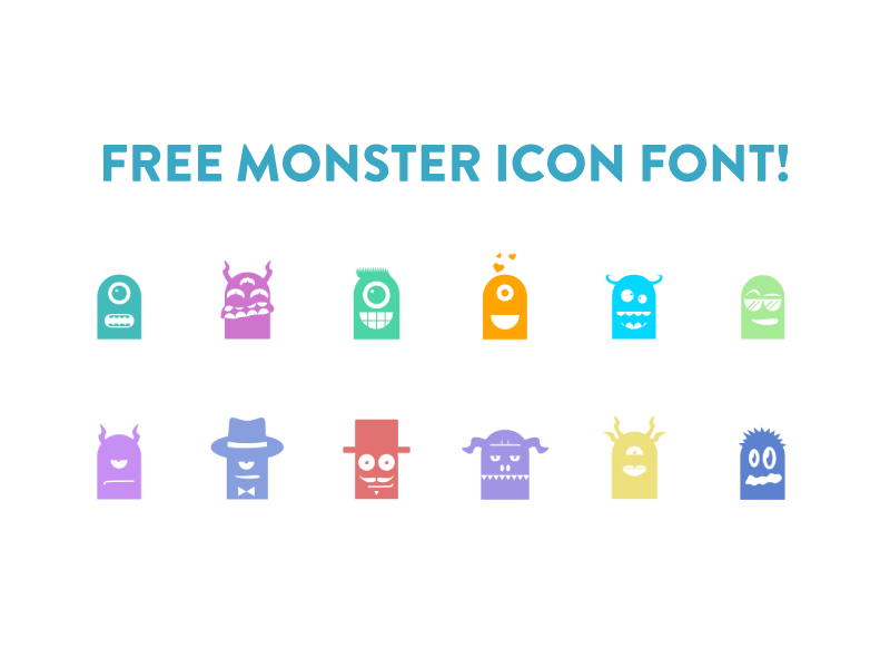 Freebie: Monster Icon Font monster vector graphicriver vector pack icon free font freebie icon font