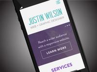 justinjwilson.com Redesign (mobile)