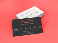 Guy & Dolls Business Cards